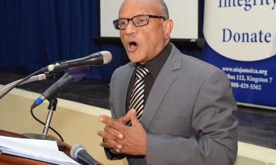 NIA's Executive Director making the keynote address