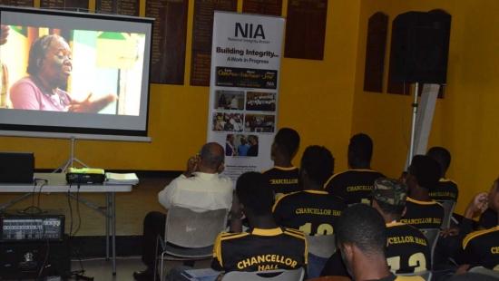 NIA on Chancellor Hall