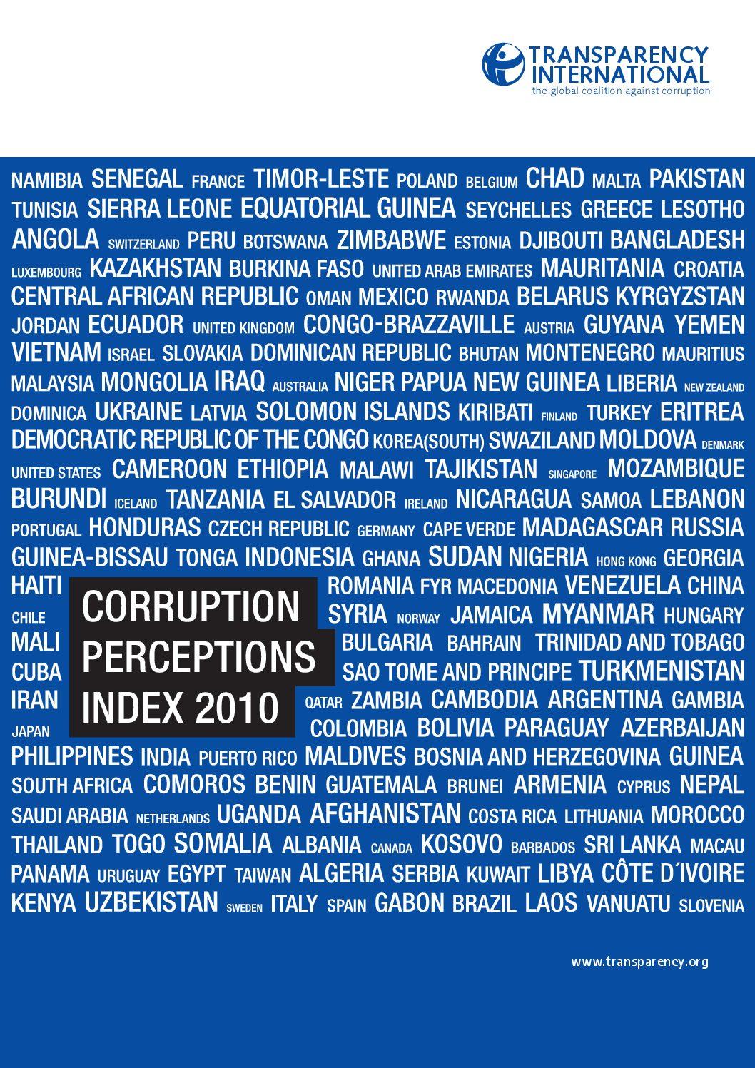 Corruption Perception Index 2010