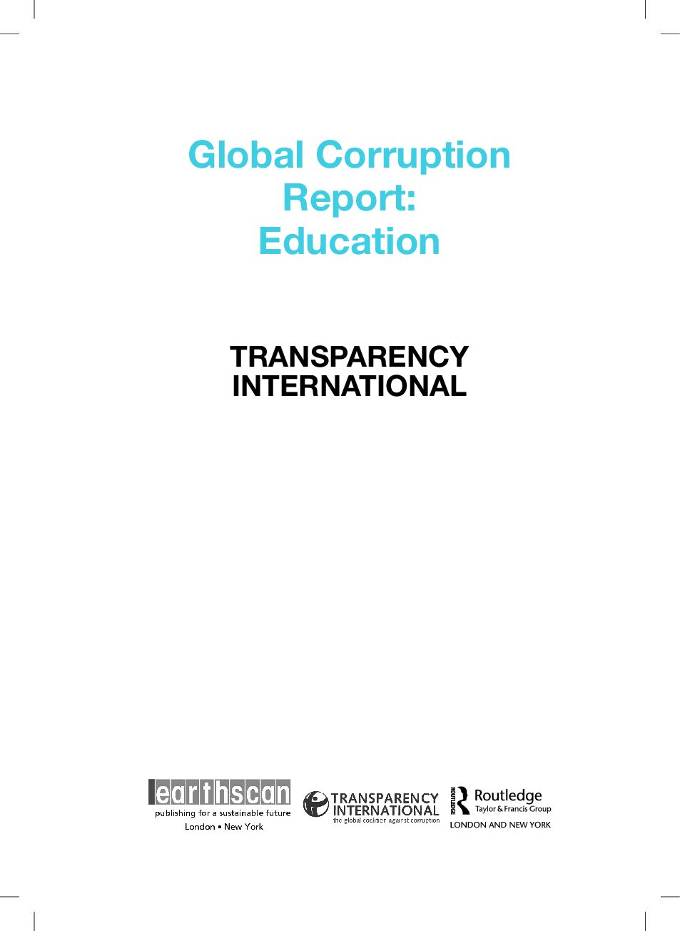 Global Corruption Report 2013 Education