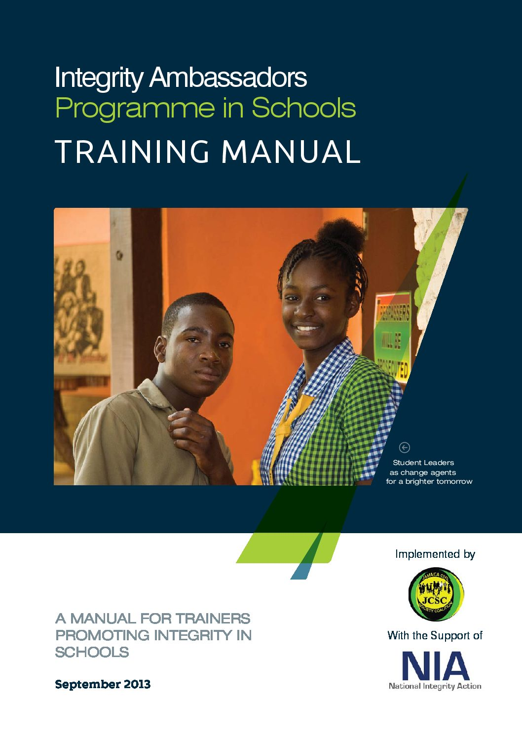 Integrity Ambassadors Training Manual